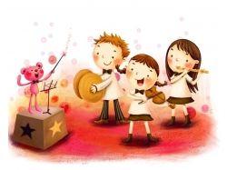 Детские рисунки музыка 7