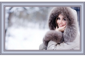 Фото зимние девушек