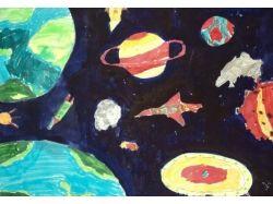 Космос рисунки ракеты