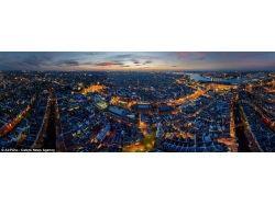 Панорамные фотографии ночных городов 7