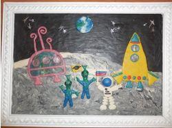 Рисунки космос глазами детей 3