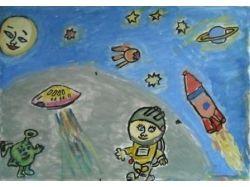 Рисунки космос глазами детей 4