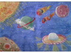 Рисунки космос глазами детей 5