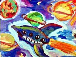 Рисунки космос глазами детей 6