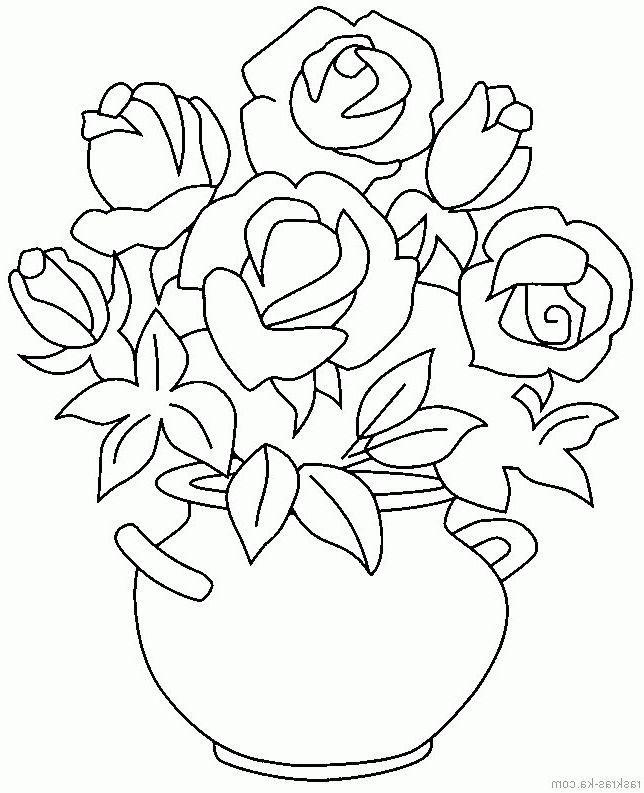 Цветы маме картинки карандашом