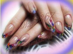 Абстракция рисунки на ногтях фото