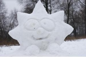 Фото фигуры из снега