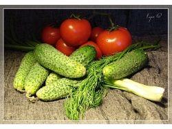 Натюрморт фрукты и овощи фото 1