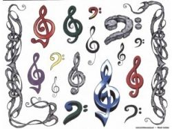 Музыка рисунки символами 7