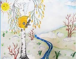 Рисунки карандашом весна