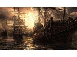 Обои корабли фрегаты 7