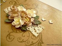 Цветы на открытку из бумаги