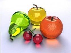 Стеклянные фрукты фото