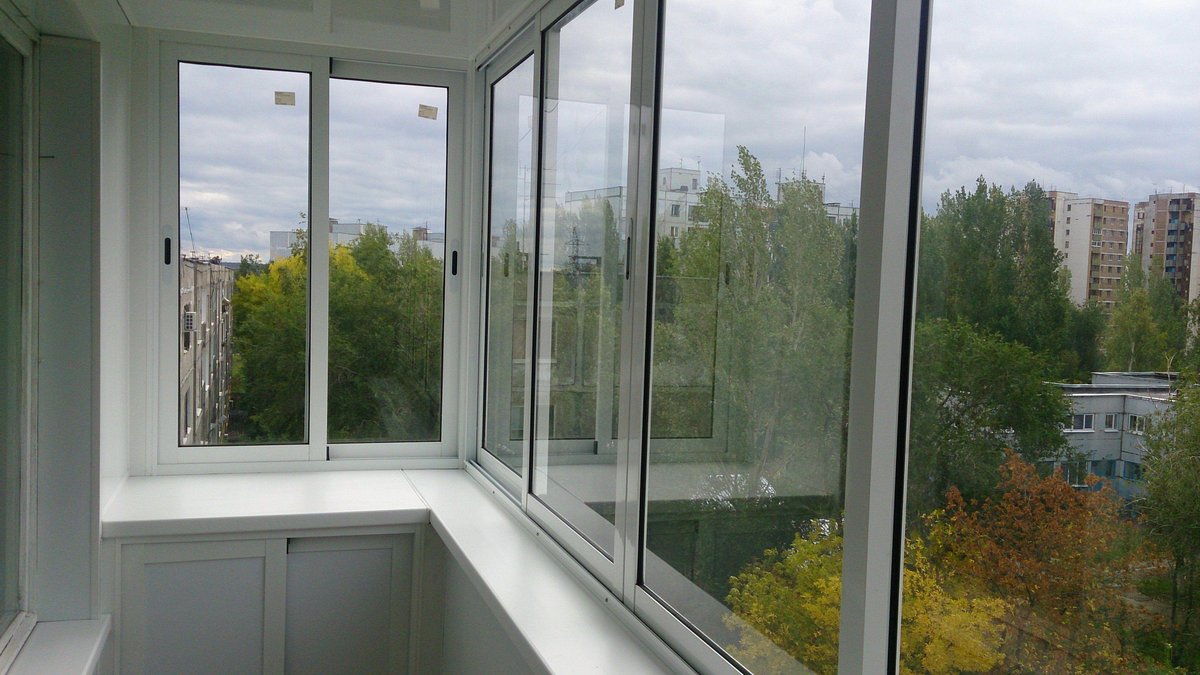 Алюминиевое остекление балконов и лоджий в уфе планета окон.