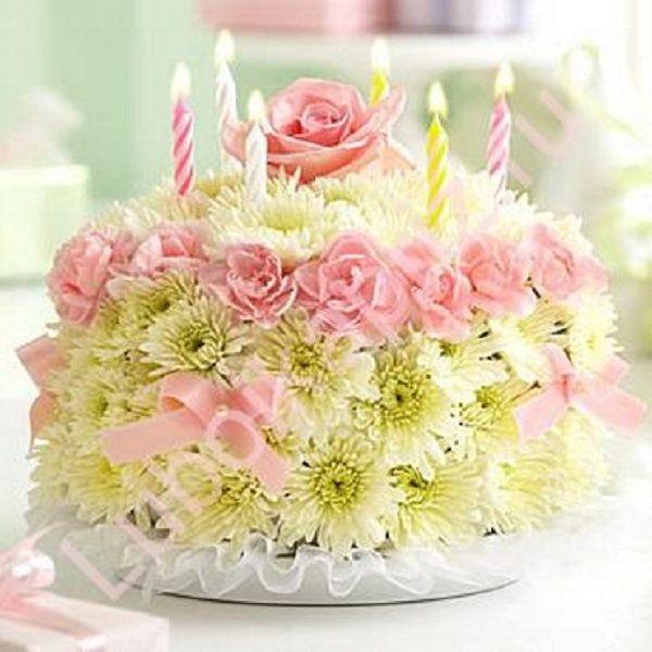 Картинки торт и цветы