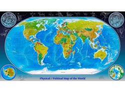 Широкоформатные обои карта мира