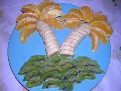 Красиво нарезанные фрукты фото