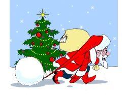 Открытки новый год рождество