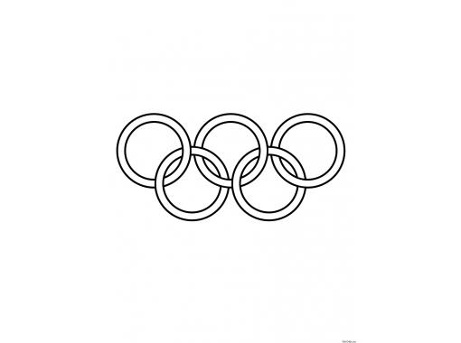 олимпийские кольца для раскрашивания гармошка проеме