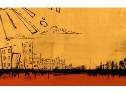 Абстракция рисунки город 7