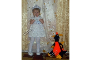 Платье снежинки фото