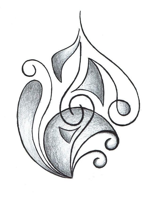 абстрактные рисунки карандашом для начинающих поэтапно