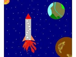 Космос рисунки красками