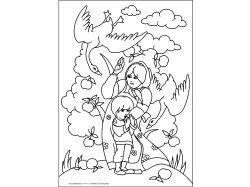 яблоня - раскраски для детей