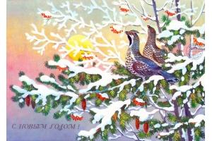 Новогодний лес картинки 8
