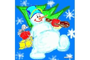 Рисунки детей новый год 5