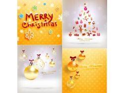 Новогодние открытки фон