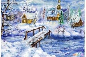 Рисунок зимняя сказка
