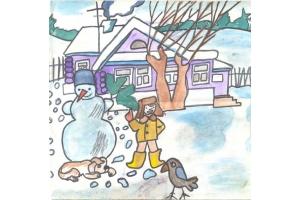Рисунок зимняя сказка 3