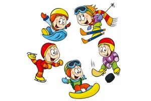 Рисунки детей на тему зимние виды спорта