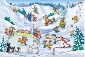 Рисунки детей на тему зимние виды спорта 2