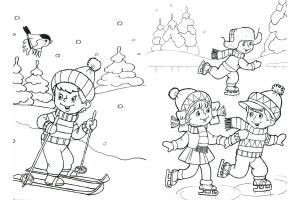 Рисунки детей на тему зимние виды спорта 4