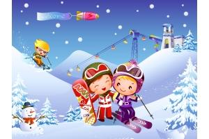 Рисунки детей на тему зимние виды спорта 5