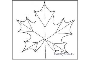 Рисунок кленовый лист 8