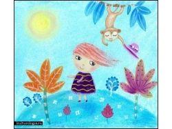 Осень рисунки школьников 7