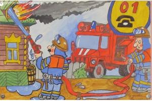 Пожар рисунок 4