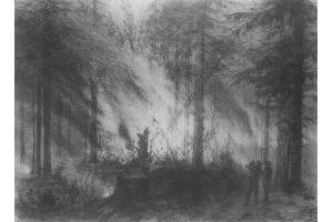 Пожар рисунок 8