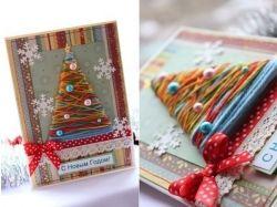 Креативные открытки своими руками на новый год 7