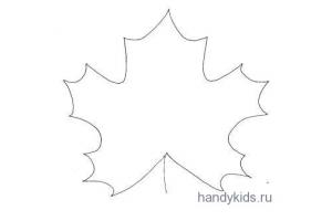 Кленовый лист шаблон 4