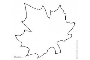 Кленовый лист шаблон 7