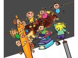 Картинки анимашки дети школьники 7