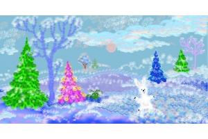 Пейзаж зимы рисунки