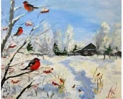 Пейзаж зимы рисунки 3