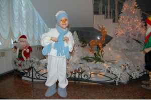Новогодний костюм снеговика фото 3