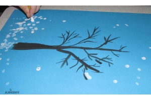 Нарисовать рисунок на тему зима 1