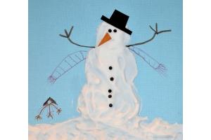 Нарисовать рисунок на тему зима 4